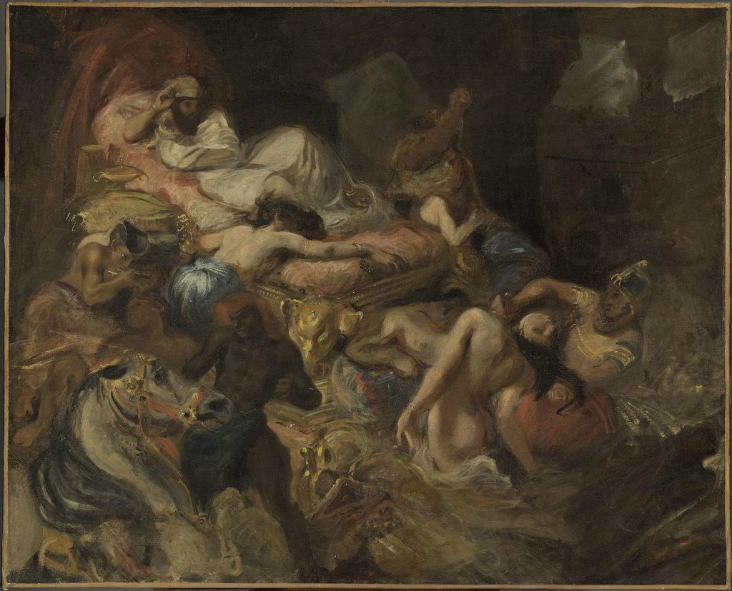 Delacroix Eugène, Mort de Sardanapale (esquisse)