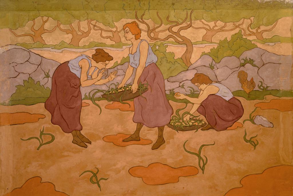 Paul Ranson, Trois femmes à la récolte, 1895