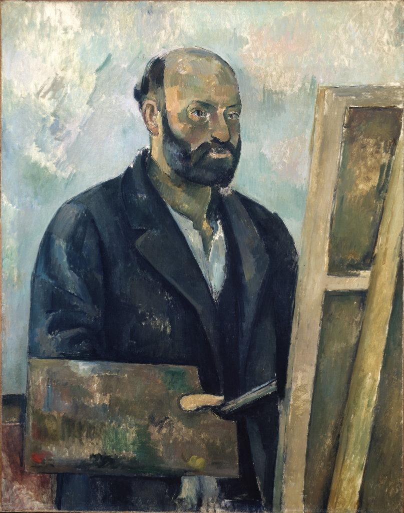 Paul Cézanne, Portrait de l'artiste à la palette, vers 1890