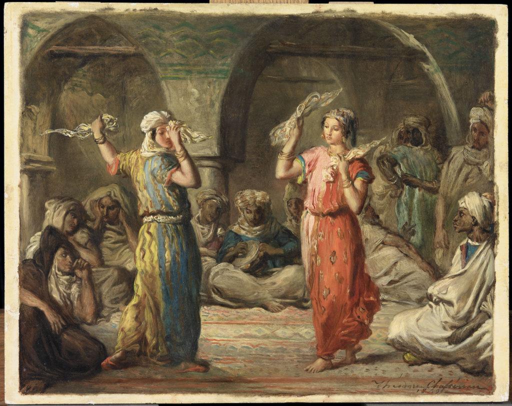 Chassériau Théodore, Danseuses marocaines. La danse des mouchoirs