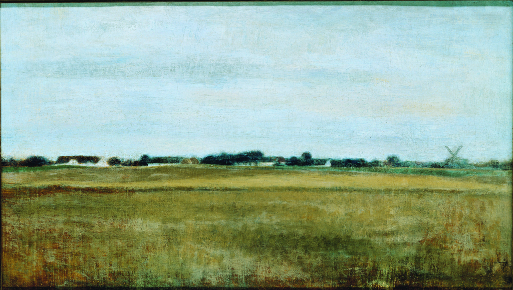 Vilhelm Hammershøi, Landscape from Virum Near Frederiksdal, Summer, 1888