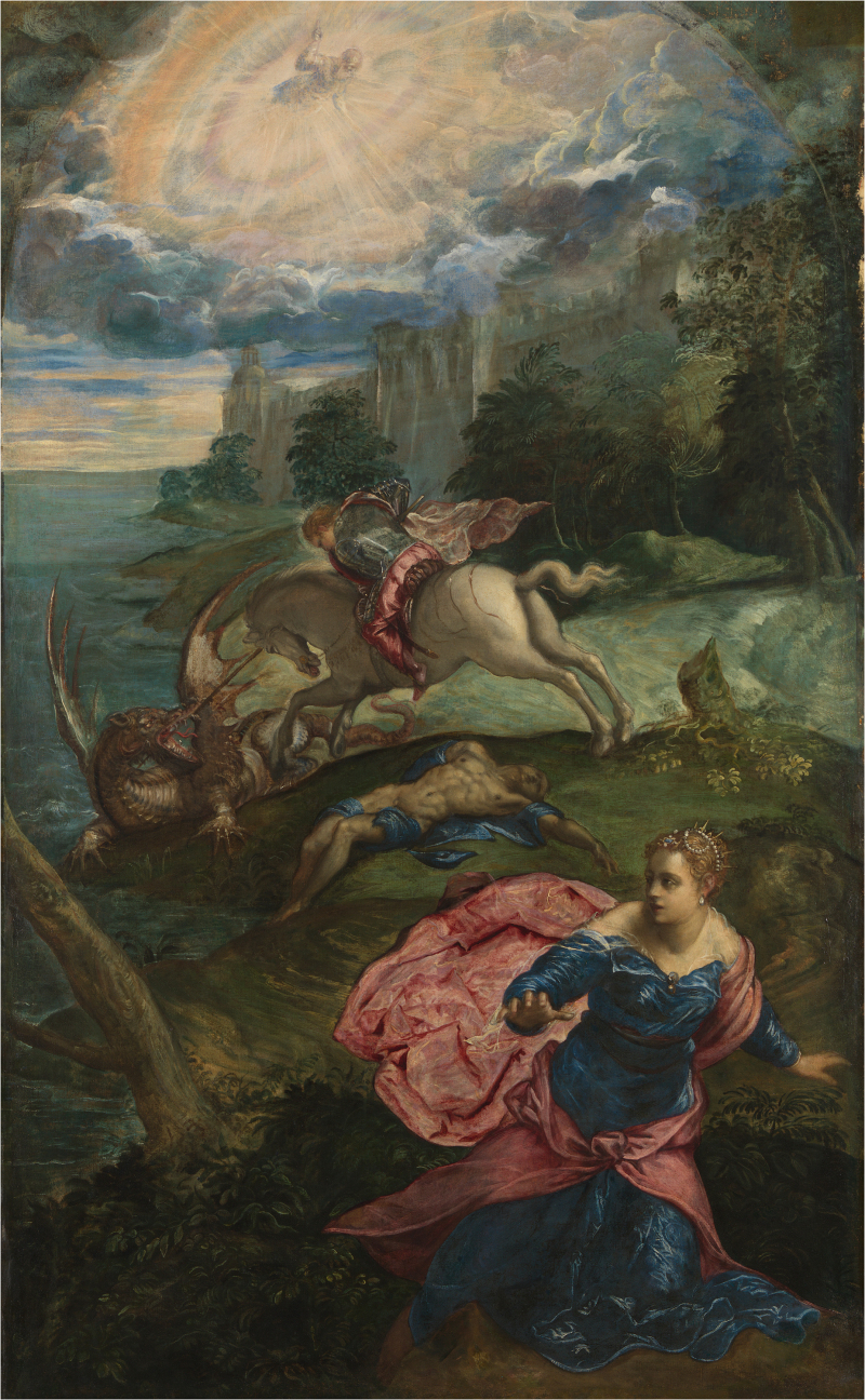 Jacopo Tintoretto, Saint George and the Dragon, c. 1553/1555