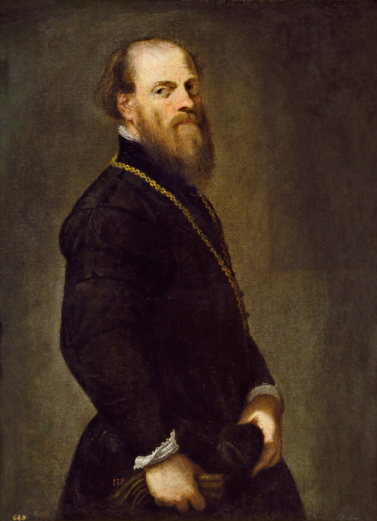 Jacopo Tintoretto, Man with a Golden Chain, c. 1555