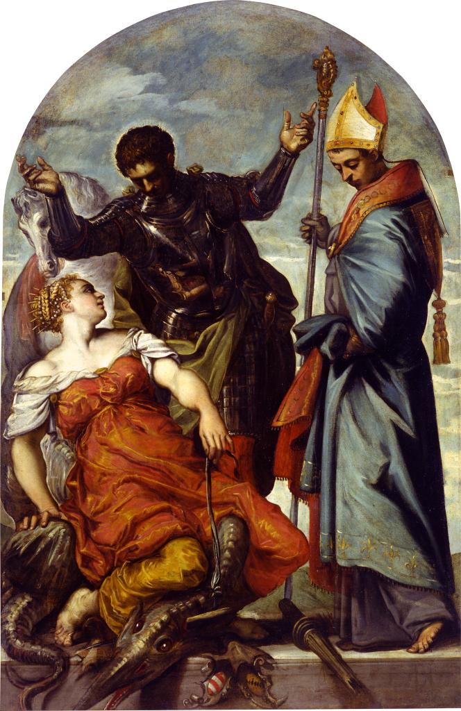 Jacopo Tintoretto, Saint George, Saint Louis, and the Princess, 1552