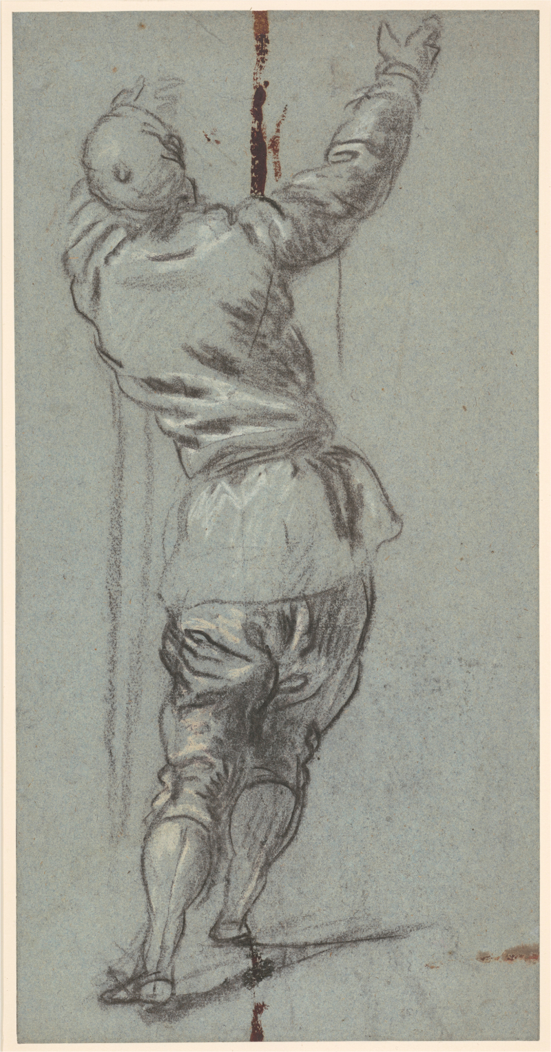 Standing Clothed Man Seen from Behind, c. 1555