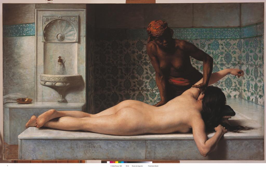 Édouard Debat-Ponsan, Le Massage, scène de Hammam, 1883