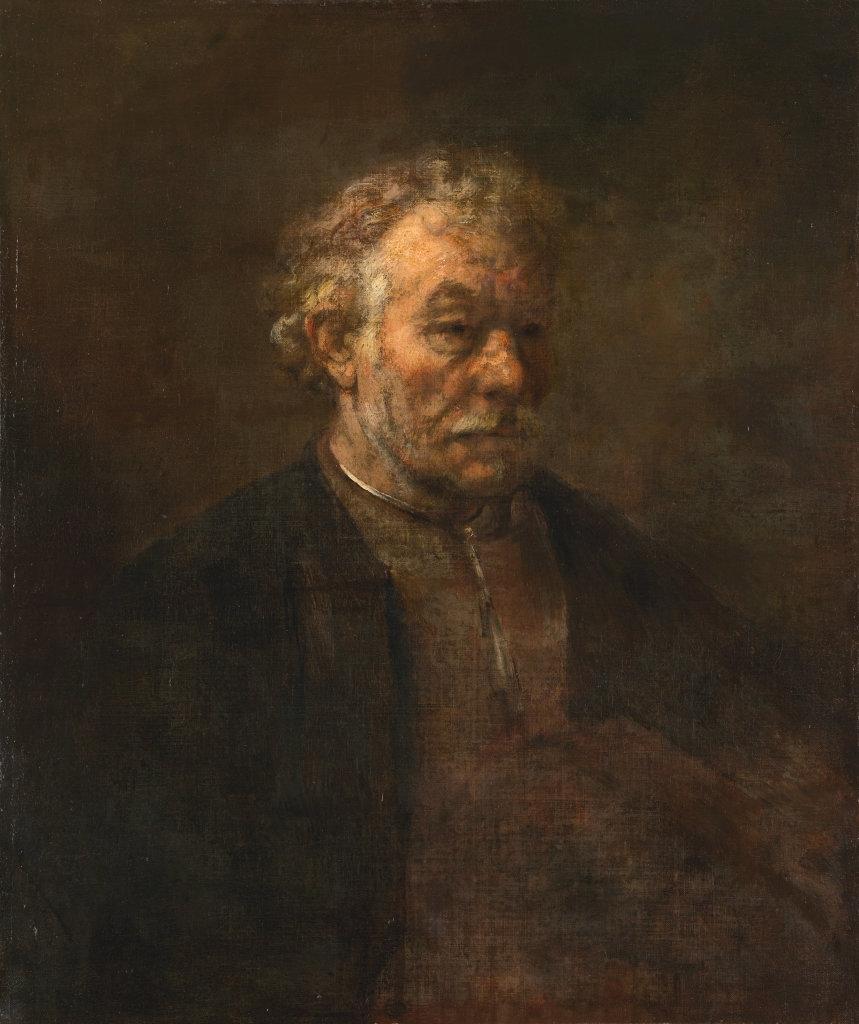 Rembrandt?,Studie van een oude man ('de broer van Rembrandt'), 1650