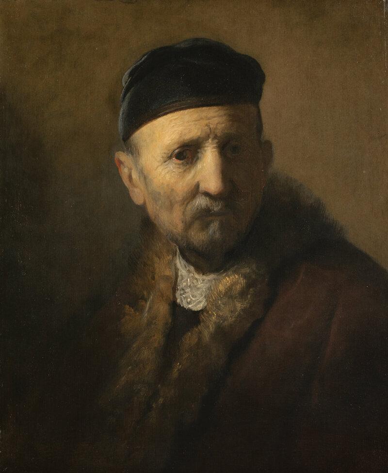 Rembrandt?, Tronie van een oude man(de 'vader' van Rembrandt), c. 1630-1631