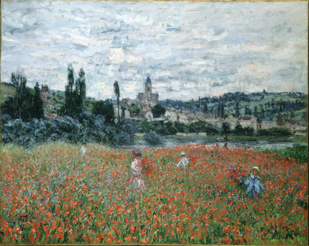 Claude Monet, Champ de coquelicots près de Vétheuil, vers 1879