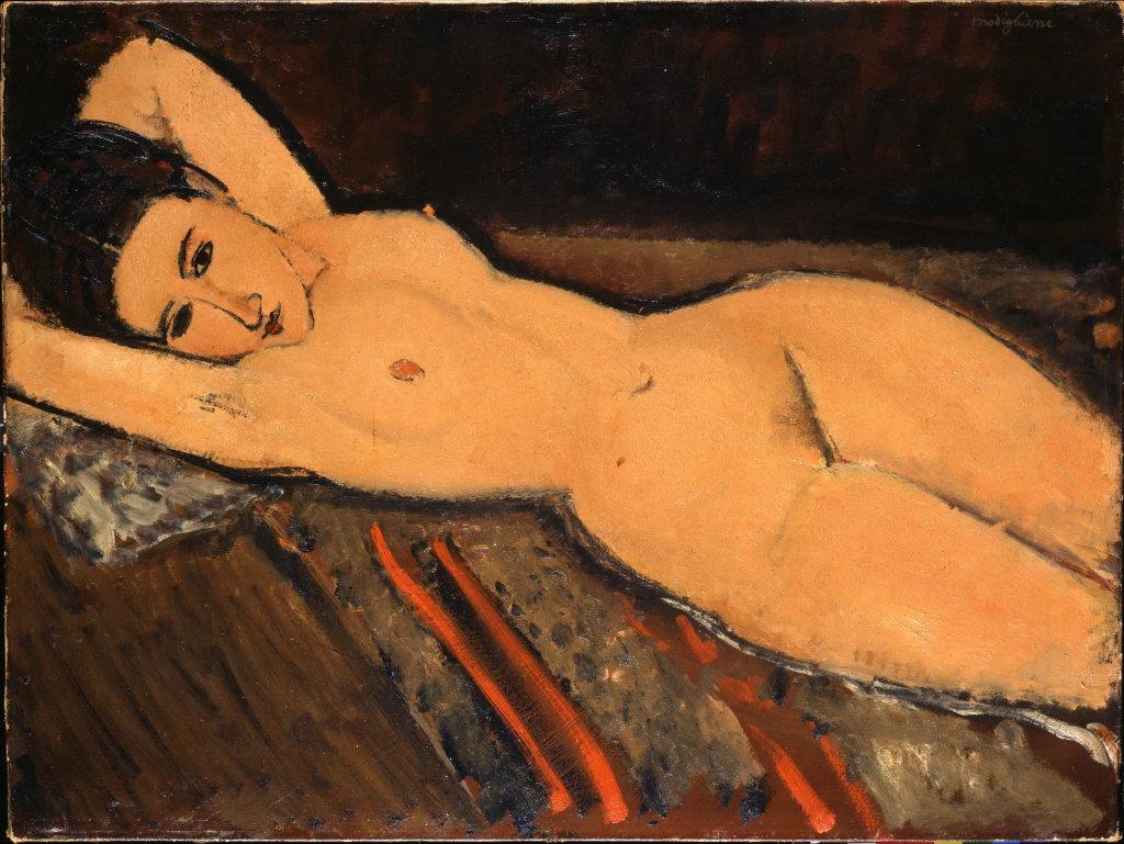 Amedeo Modigliani, Nu couché, 1916