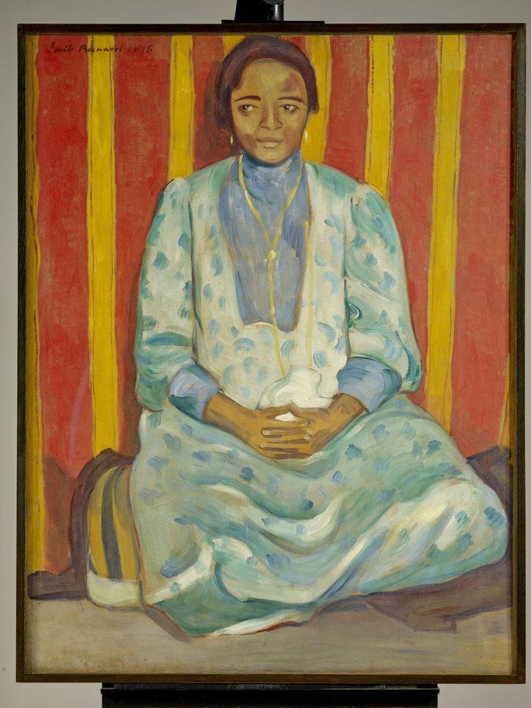 Émile Bernard, Abyssine en robe de soie, 1895