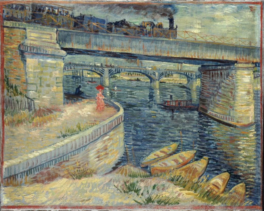 Vincent van Gogh, Les Ponts d'Asnières, 1887