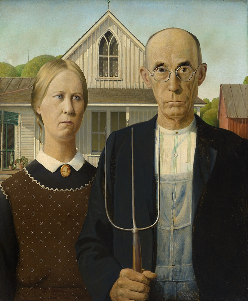 American Gothic, 1930, Grant Wood © Chicago Art Institute