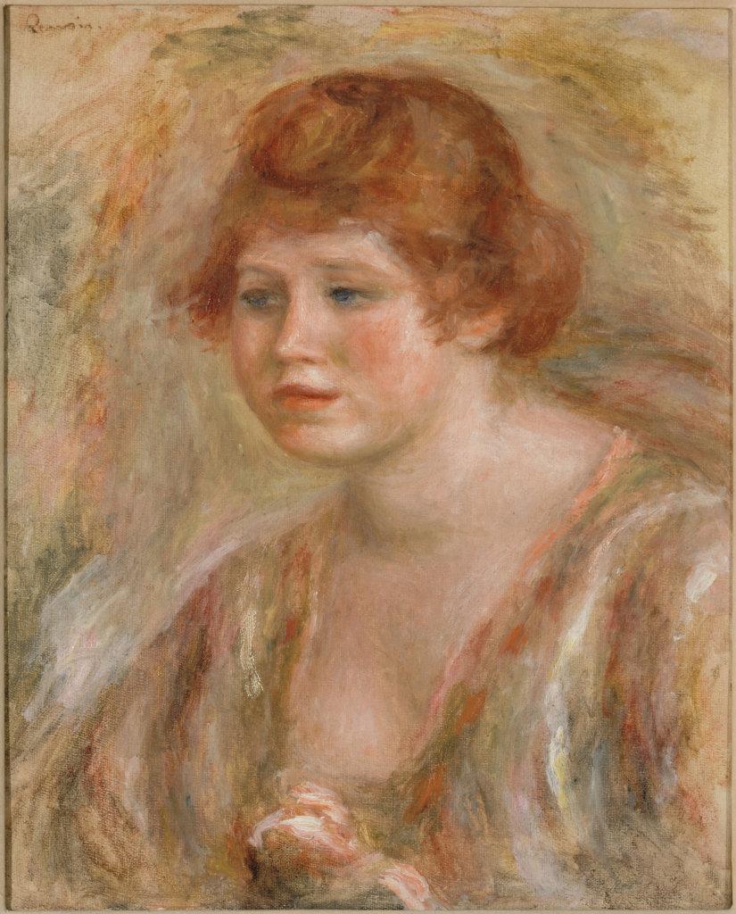 Auguste Renoir, Jeune femme à la rose, entre 1918 et 1919