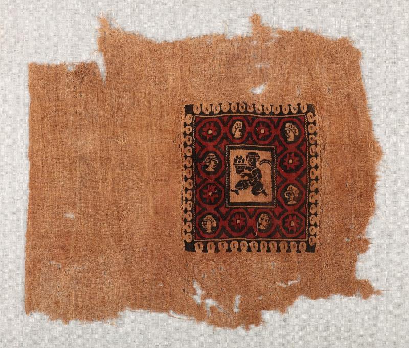 Lin et laine Chaîne: 29 cm, trame: 33 cmÉgypte, 5e-8esiècle Don de Maria Luise Fill et Robert Trevisiol, Coll. Fondation Roi Baudouin