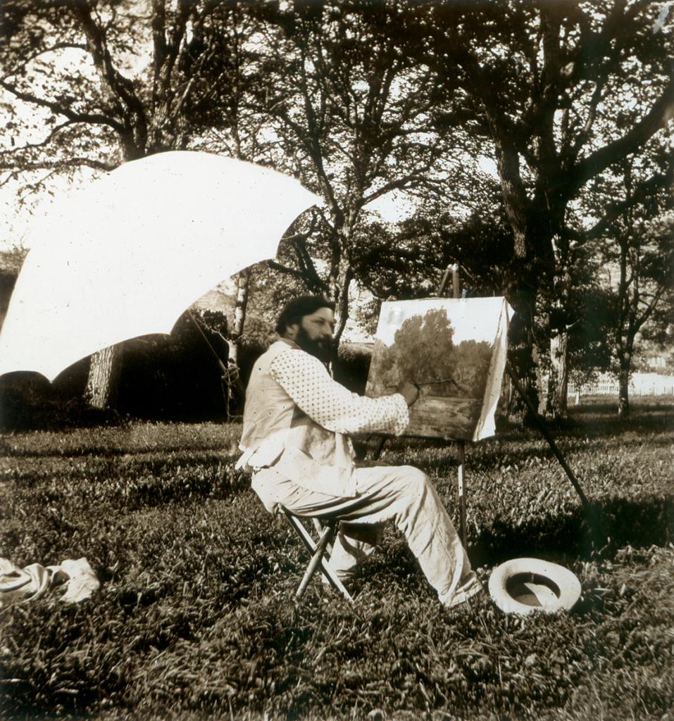Feyen, Courbet qui peint