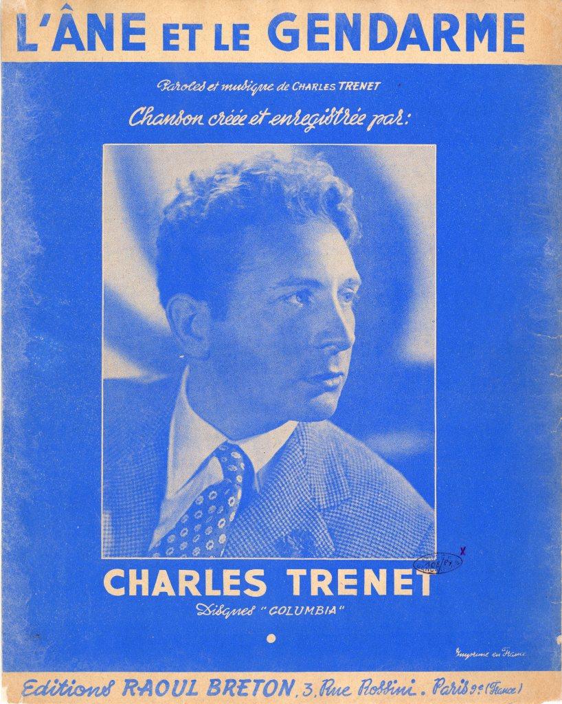 DOC95 Partition de la chanson interprete par Charles Trenet L'ane et le gendarme