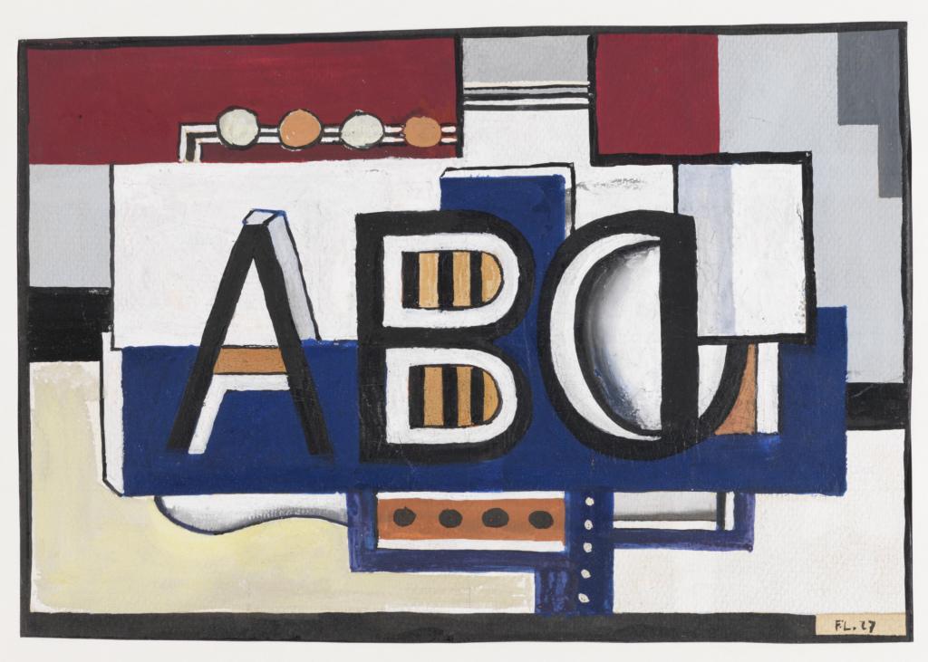 Fernand Léger, ABC, 1927