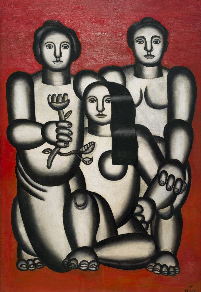 Fernand Léger, Trois femmes sur fond rouge, 1927