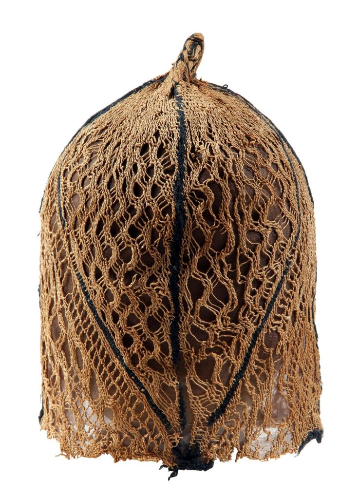 Coiffe feminine ou filet de tête - Expo de lin et de laine