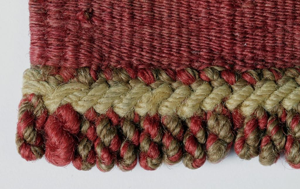 Detail d'un fragment de tunique - Expo de lin et de laine