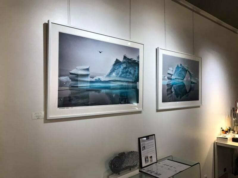 Galerie HEGOA Paris, expo Memoires de Glaces - RDC gauche