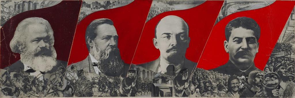 Gustav Kutsis, Dressez le drapeau de Marx, Engels, Lenin et Stalin, 1933