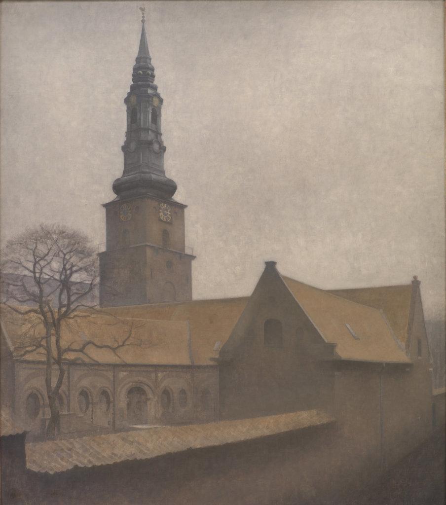 Vilhelm Hammershøi, St. Peter's Church, Copenhagen, 1906