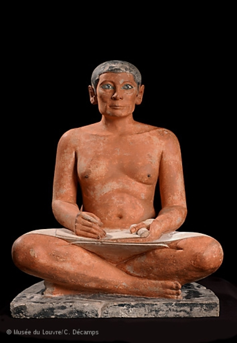 Le Scribe accroupi © Musée du Louvre C. Décamps