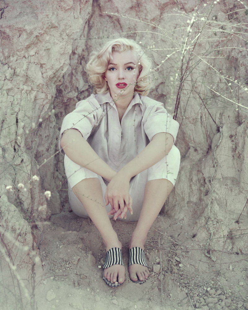 American actress, model and singer Marilyn Monroe during an editorial photo-shoot for Look magazine at the Laurel Canyon, Los Angeles, CA, 1953.