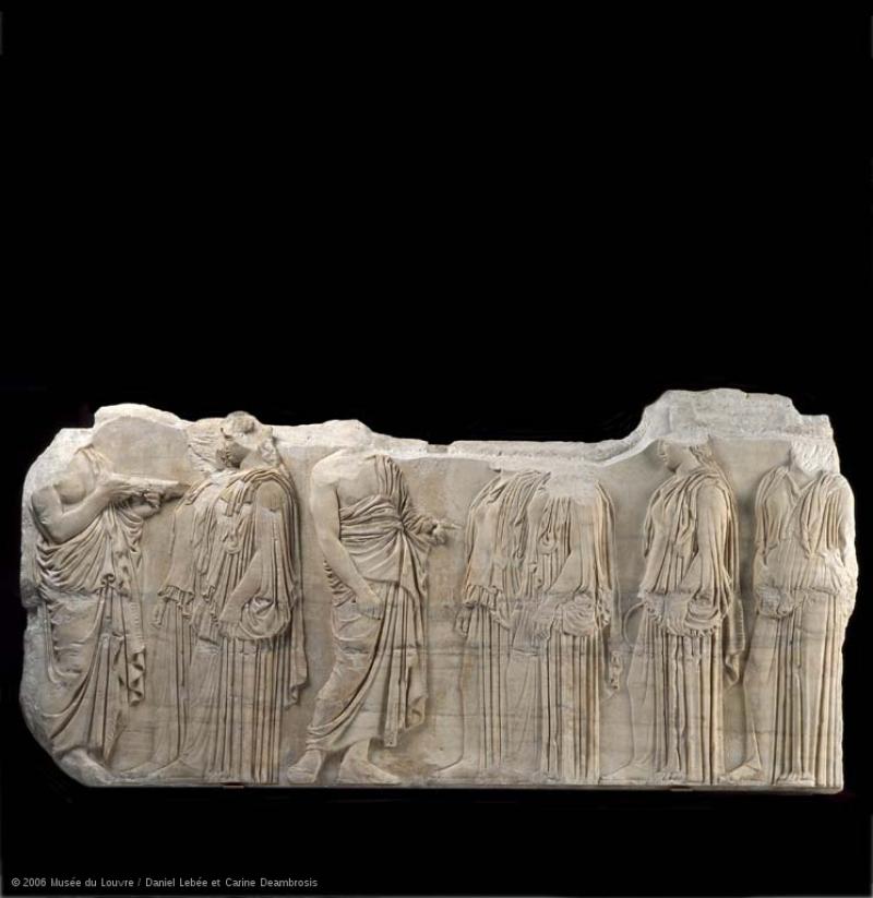 Plaque des Ergastines © 2006 Musée du Louvre Daniel Lebée et Carine Deambrosis