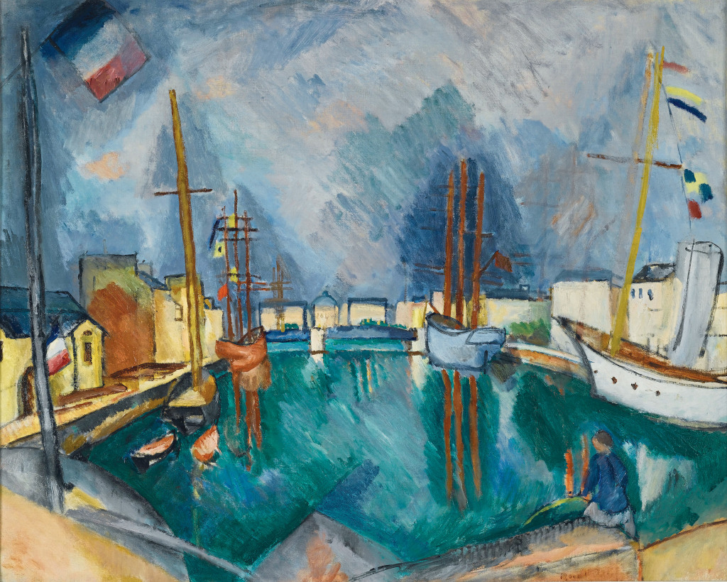 Raoul Dufy, Le Port du Havre, vers 1910 Huile sur toile - 65,5 x 81,4 cm Collection particulière