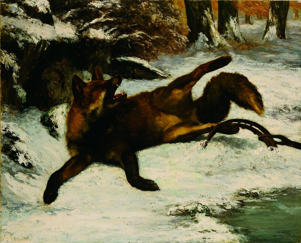 Gustave Courbet, Renard pris au piege