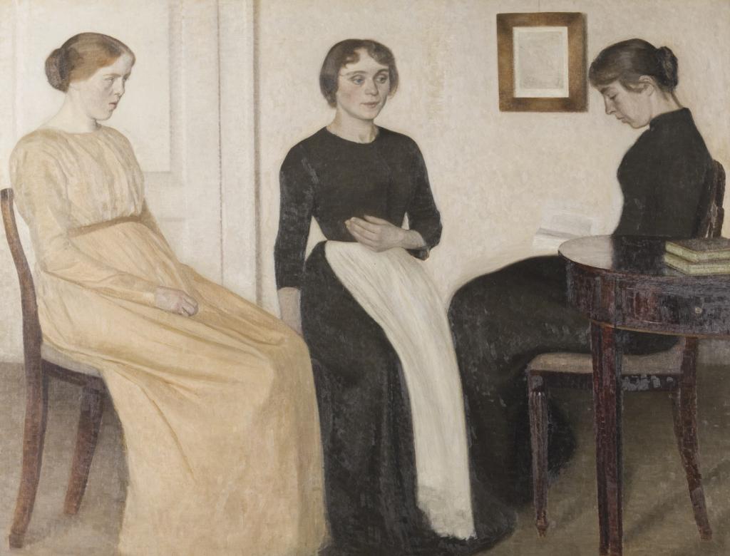 Vilhelm Hammershøi, Trois jeunes femmes, 1888