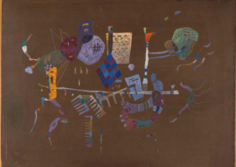 Wassily Kandinsky, Alrededor de la linea, 1943