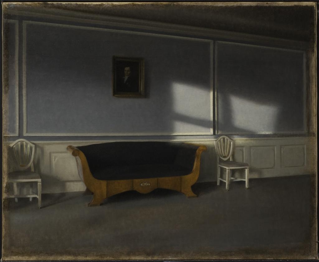 Vilhelm Hammershøi, Solsken i salen, 1903