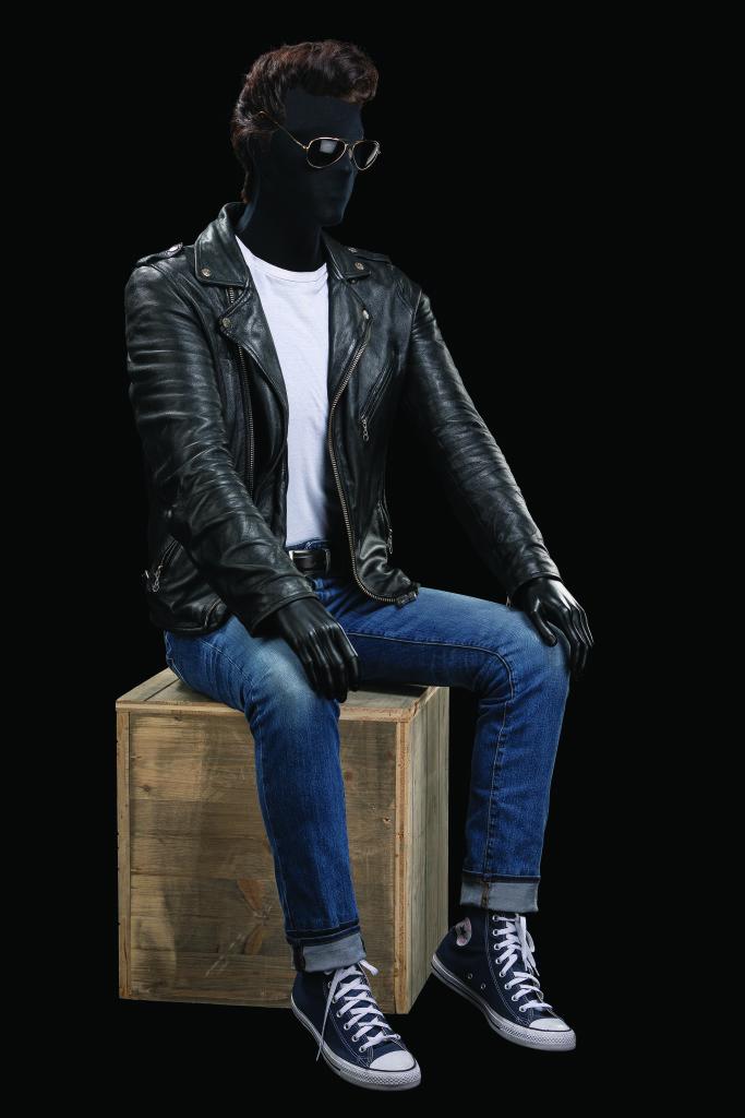 Costume d'Arno Bremers pour le rôle de Danny dans Grease. Comédie musicale mise en scène par Martin Michel, Théâtre Mogador / Stage Entertainment France, Paris, 2017.