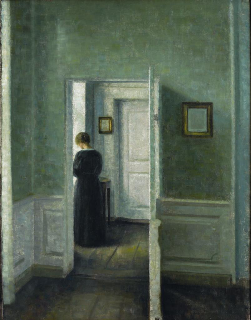 Vilhelm Hammershøi, Interior with a Woman Standing
