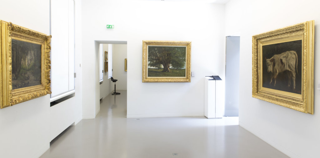 Vue de l'exposition Courbet Dessinateur, Musée Courbet, Ornans, France