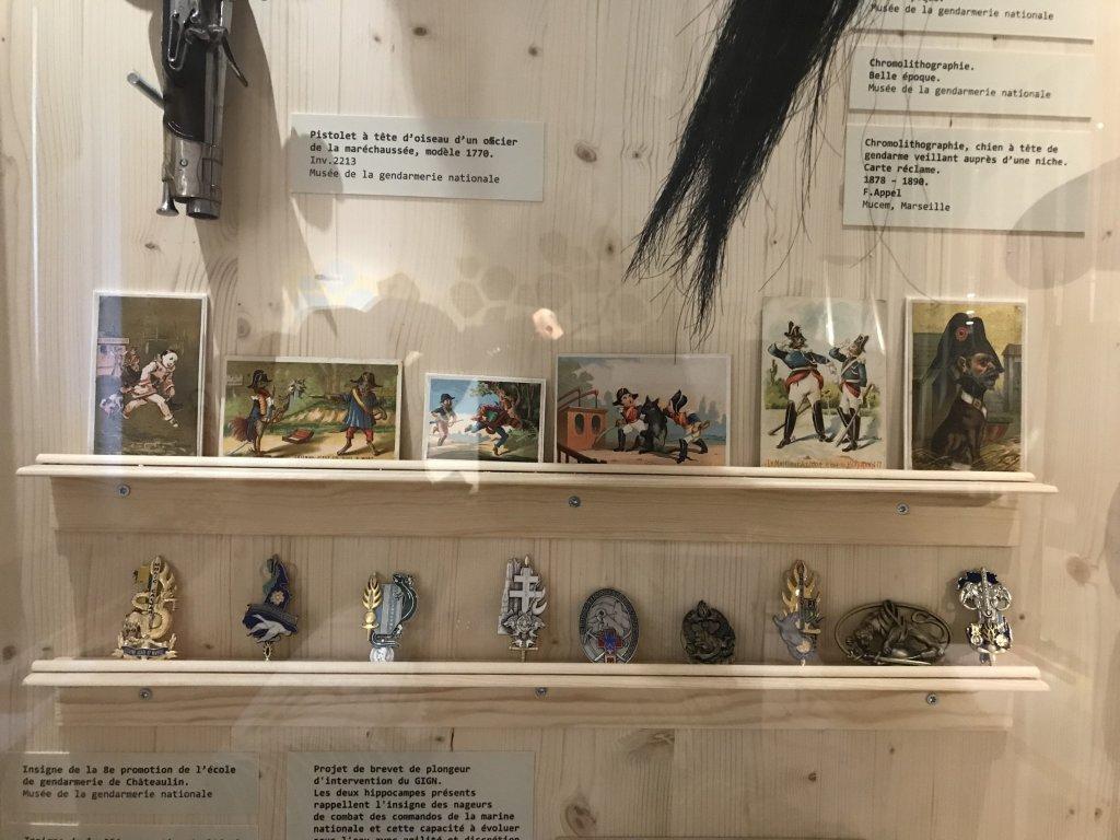 Vue de l'exposition Des animaux et des gendarmes, Musée de la Gnedarmerie nationale, Melun, IDF (24)