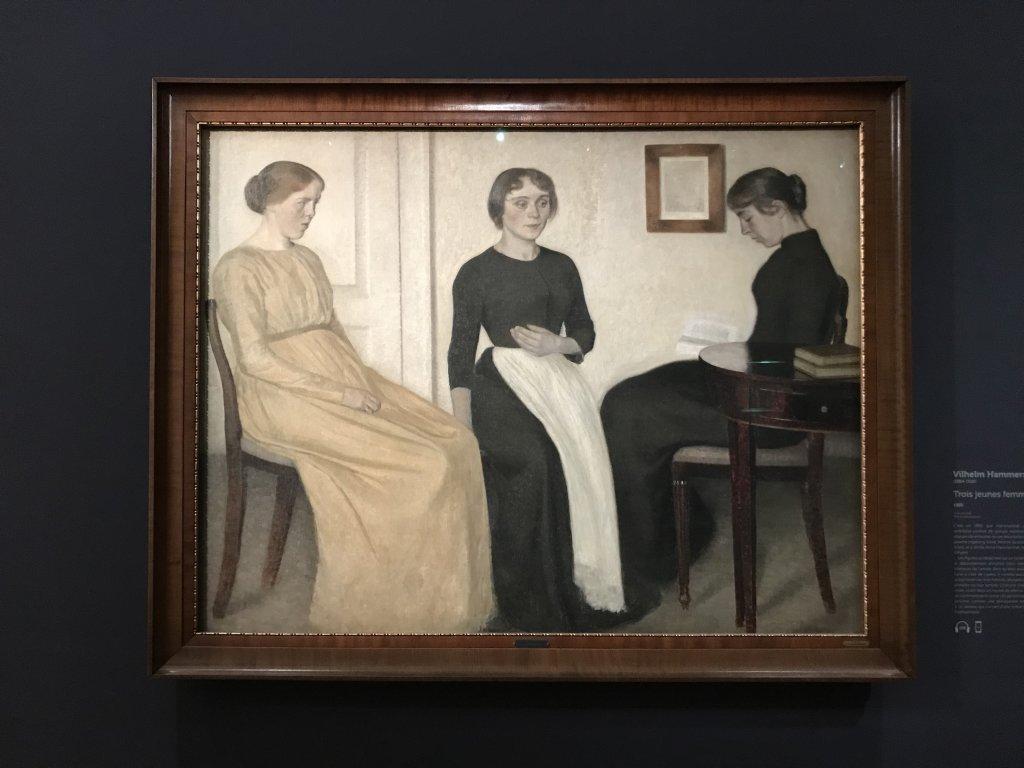 Vue de l'exposition Hammershoi, Musée Jacquemart-André, Paris (2)