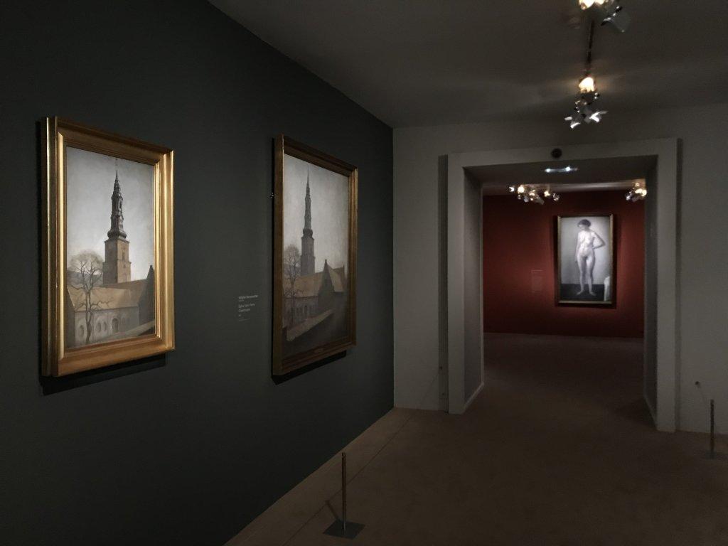 Vue de l'exposition Hammershoi, Musée Jacquemart-André, Paris (62)