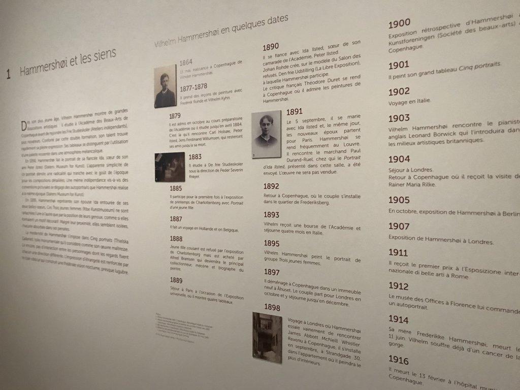 Vue de l'exposition Hammershoi, Musée Jacquemart-André, Paris (64)