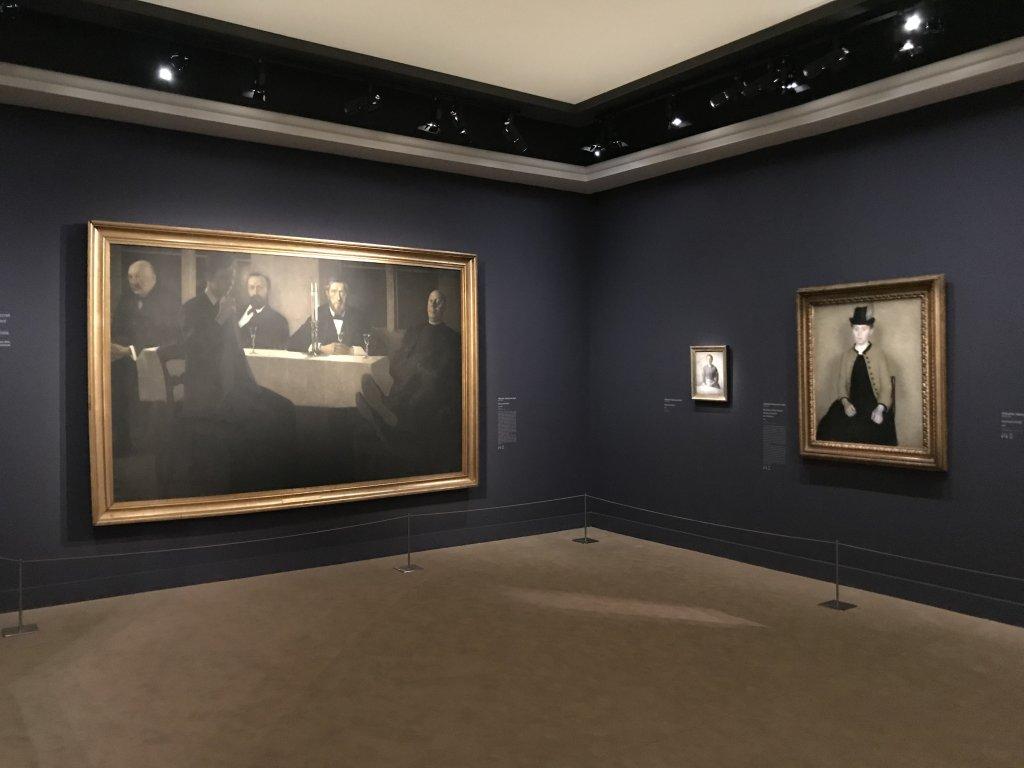 Vue de l'exposition Hammershoi, Musée Jacquemart-André, Paris (65)