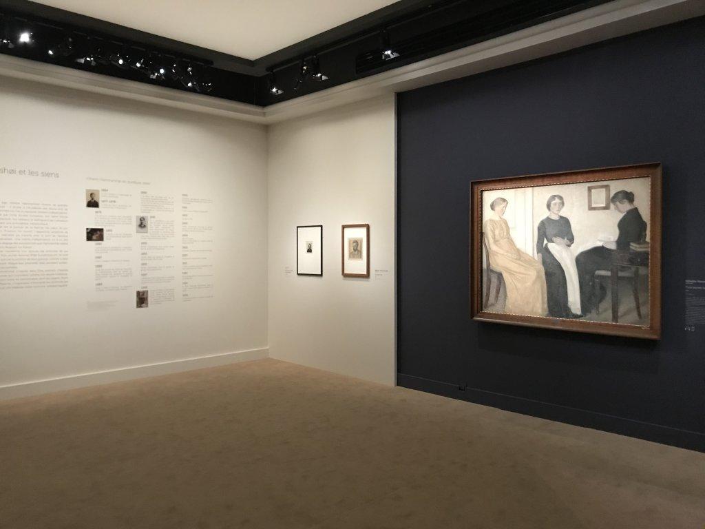 Vue de l'exposition Hammershoi, Musée Jacquemart-André, Paris (67)
