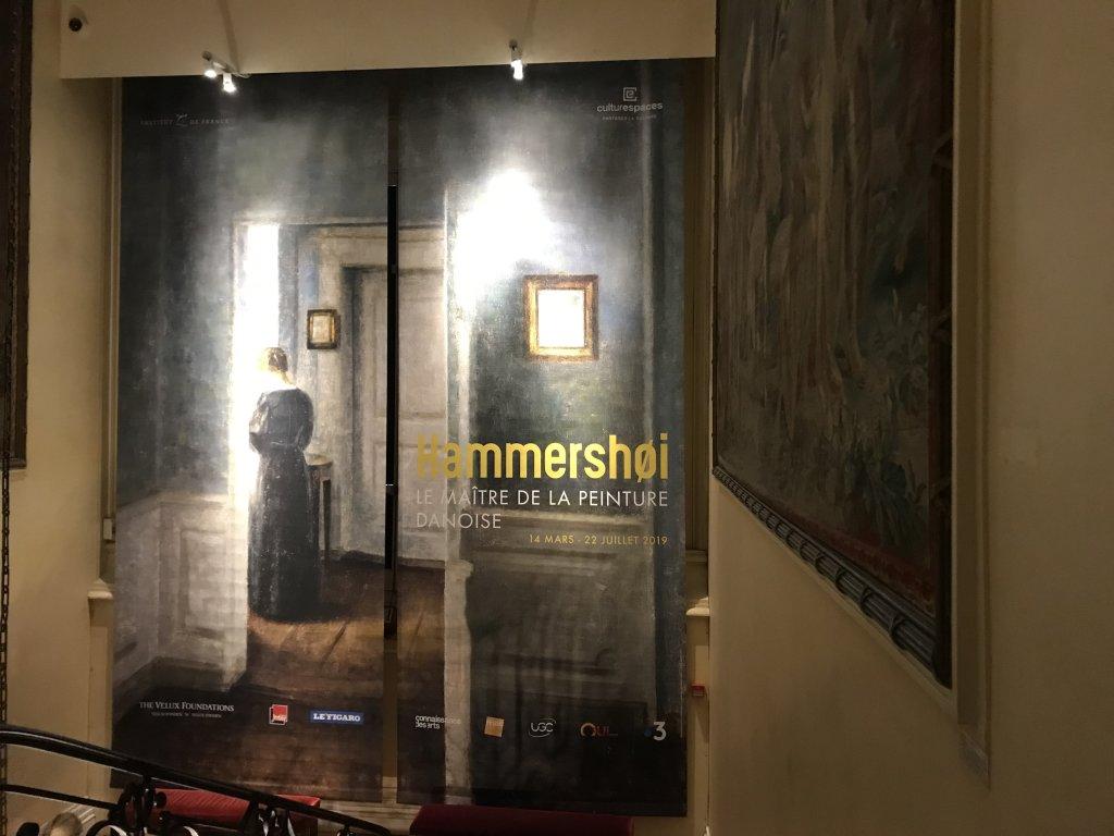 Vue de l'exposition Hammershoi, Musée Jacquemart-André, Paris (74)