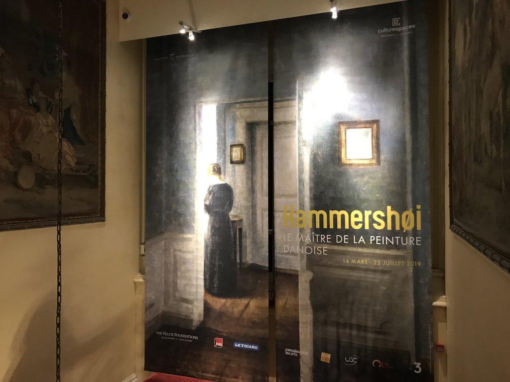 Vue de l'exposition Hammershoi, Musée Jacquemart-André, Paris (75)