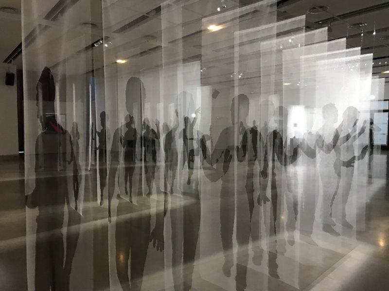 Vue de l'exposition Miniartextil 2019 Le Beffroi, Montrouge (35)