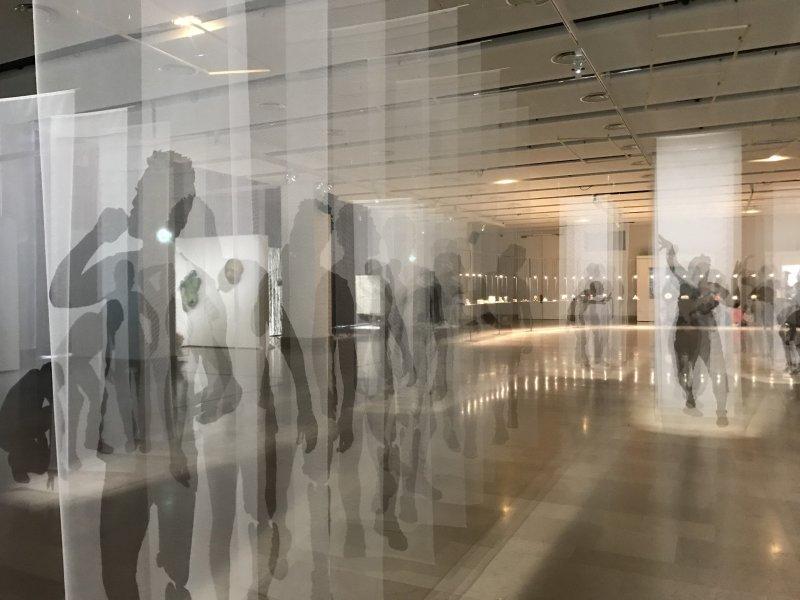 Vue de l'exposition Miniartextil 2019 Le Beffroi, Montrouge (37)