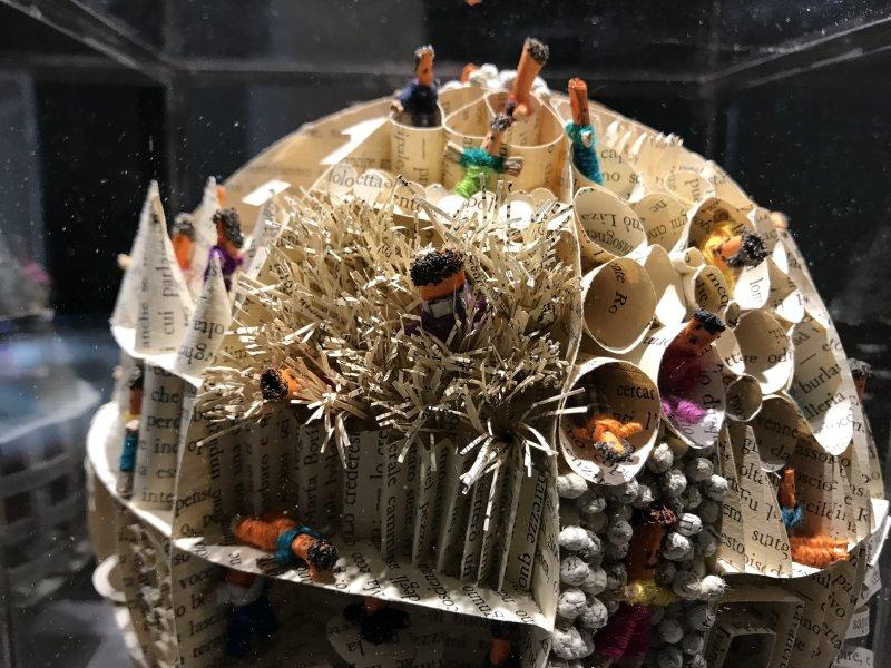 Vue de l'exposition Miniartextil 2019 Le Beffroi, Montrouge (64)